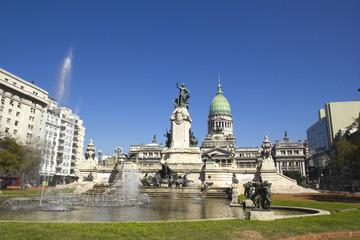 Congress square monument in Buenos Aires, Argentina