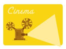 Vintage projecteur de film, ancien cinéma