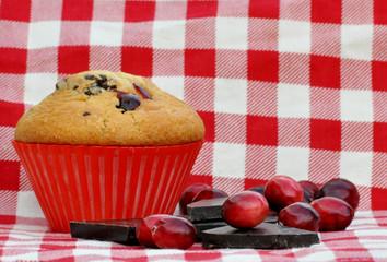 Muffin mit Schokolade und Cranberries