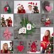 Weihnachten - Collage Rot u. Grün mit Kindern
