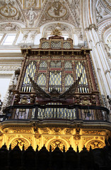 Organ in the Mezquita - Cordoba - Andalucia Spain