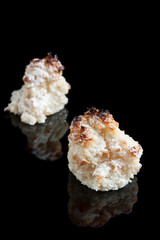 Coconut panellets. Cataln cuisine