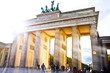Leinwanddruck Bild - Brandenburger Tor Berlin- weitere Berlinbilder im Portfolio
