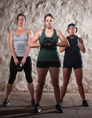 Three Ladies in Boot Camp Workout