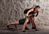 Boot Camp Trainer with Woman