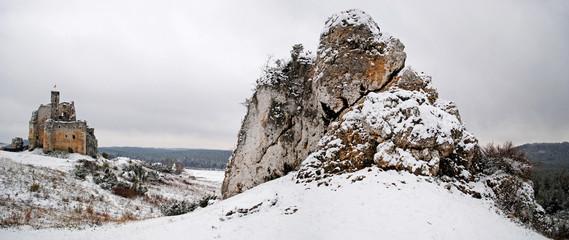 Zimowy Mirów - Stitched Panorama