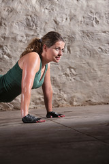 Young Lady Doing Push-ups