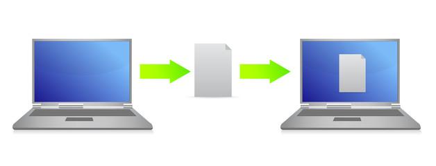 file transfer illustration design