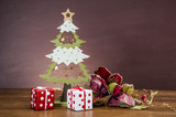 Christmas theme on solid background