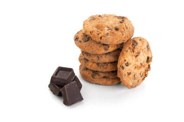 Chocolate cookies whit pieces chocolate