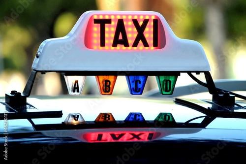 ' Lumineux ' de taxi occupé en tarif ' A '