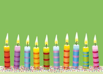 Bunte Geburtstags-Kerzen