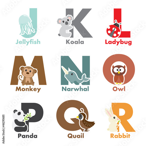 Alphabet animals