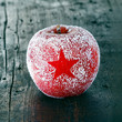 Decorative fresh Christmas apple