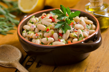 White bean cannelini salad.