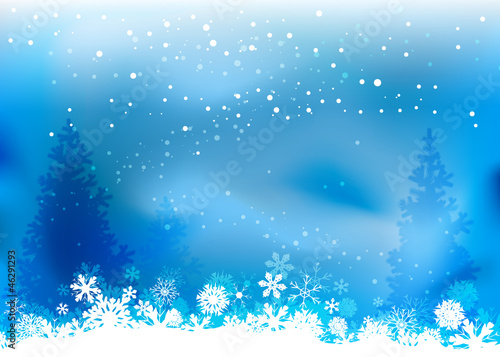 Christmas nature background