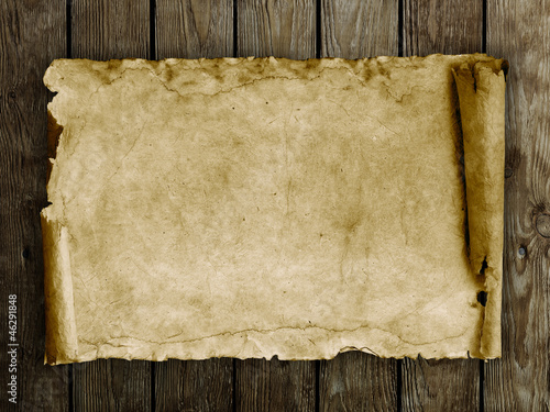 paper on the wood background
