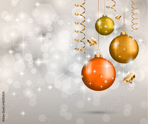 Elegant Classic Christmas Background for Flyer