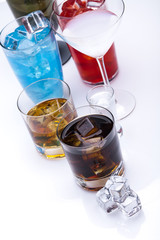 Alcohol drinks set