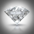Luxury diamond isolated on white background with clipping path..