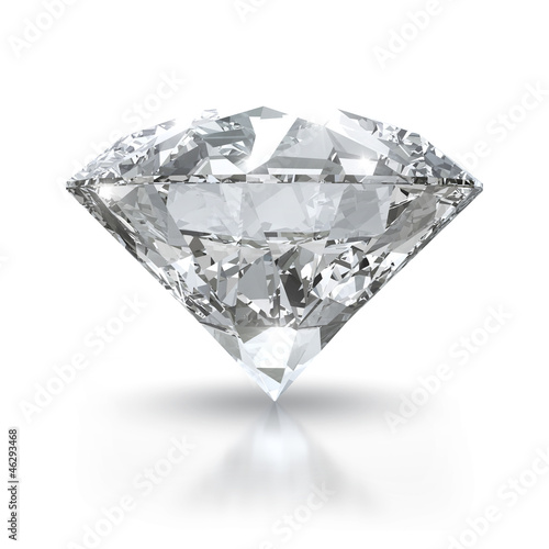 Luxury diamond isolated on white background with clipping path.