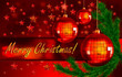 christmas background with balls and fir branch