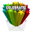 Celebrate Party Celebration Envelope Stars Excitement