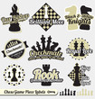 Vector Set: Vintage Chess Labels and Stickers
