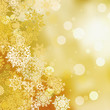 Festive gold Christmas with bokeh lights. EPS 8