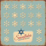 retro snowflake collection