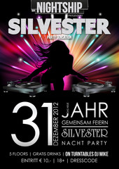 Silvester 2013 Party Flyer