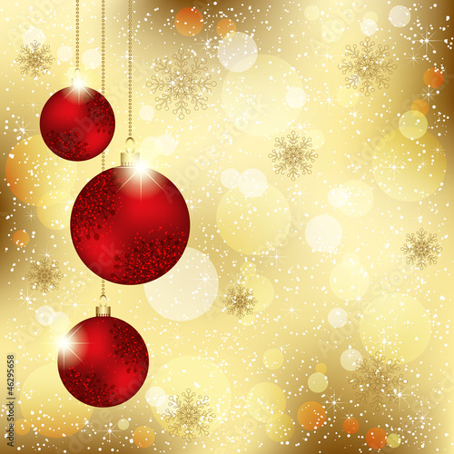 Sparkling Christmas Crystal Ball Greeting Card