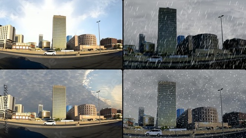 jeddah downtown in different weathers
