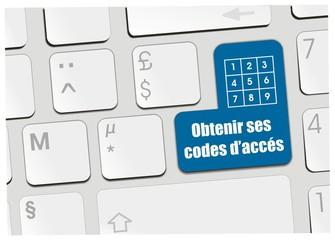 clavier obtenir ses codes d'accés