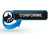 conforme sur bouton web design bleu poster
