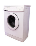 washing machine over white background