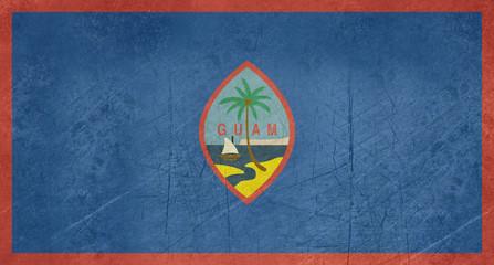 Grunge Guam Flag