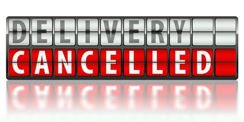 Ecommerce concept of delivery, cancelled