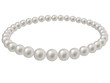 Pearl beads on a white background - 46298648