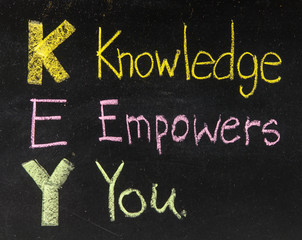 KEY acronym - Knowledge empowers you