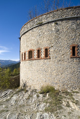 The old military fortification in Alps