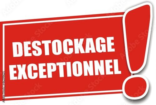 étiquette destockage exceptionnel