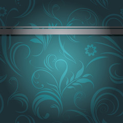 Dark sea green ornamental background