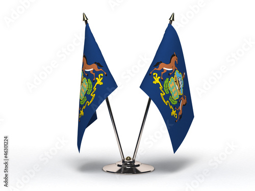 Miniature Flag of Pennsylvania (Isolated)