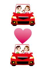 家族,自動車,ドライブ,旅行,朝,昼,夜,移動,上昇,下降