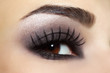 Eye with black fashion make-up