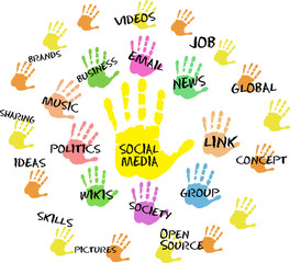 Social media and network design
