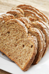 Sliced Irish wheaten bread