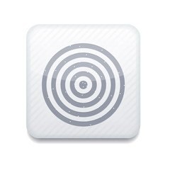 Vector white darts icon. Eps10. Easy to edit