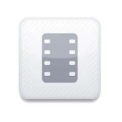 Vector white film icon. Eps10. Easy to edit